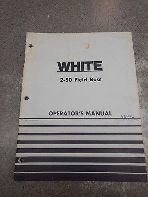 White 2-50 Field Boss Operators Manual 432440