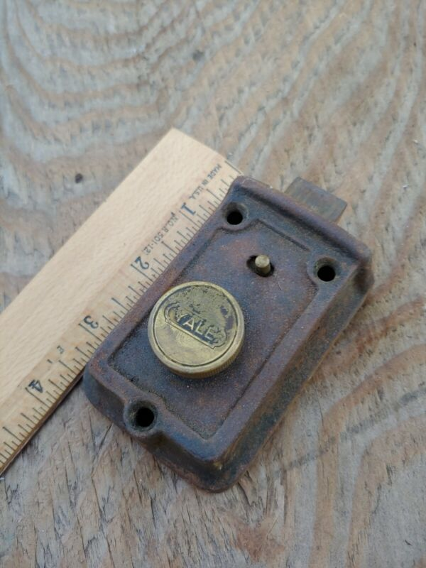 Antique Vintage YALE Deadbolt Door Lock Latch Bolt made in USA.