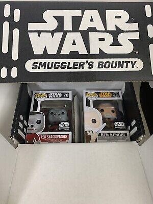 Funko Pop Star Wars Smugglers Bounty CANTINA Box (Ben Kenobi & Red Snaggletooth)