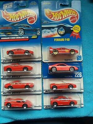 Hot Wheels 1991 1998-1999 FERRARI Lot of 8
