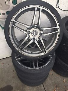 "18"" aftermarket wheels 4x114.3 with extra performance tires"