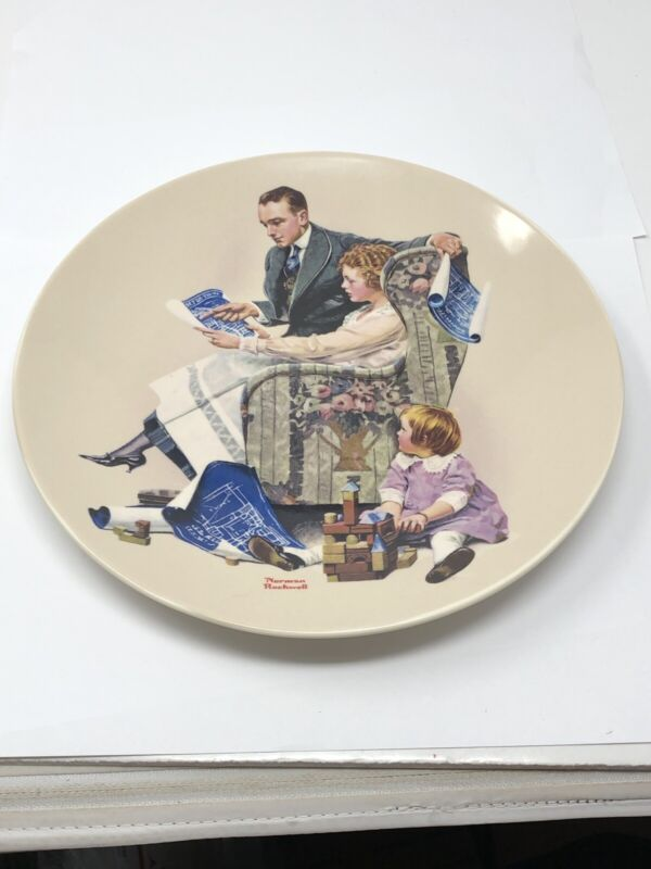 Norman Rockwell Plate 2008 Planning The Home 32nd In Heritage Collection #A2817