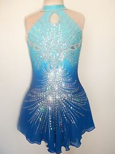 CUSTOM MADE NEW ICE SKATING BATON TWIRLING DRESS COSTUME