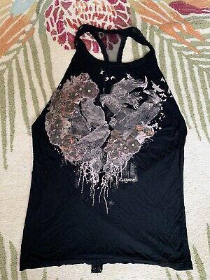 Religion Backless Beaded Party Club Ibiza Vest Top Size Medium 12