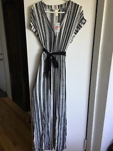 H&M long dress, A line, elastic at waist