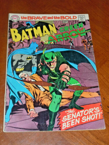 BRAVE AND BOLD #85 (1969) VG+ (4.5) cond. Neal Adams GREEN ARROW New Look