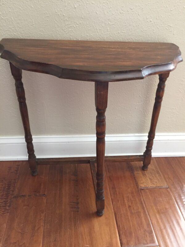 Vintage Solid Wood Table , Three Leg Stand