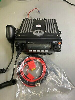 Motorola Xtl2500 Uhf R2 450-520 Mhz M21ssm9pw1an With Base Tray Bench Tested