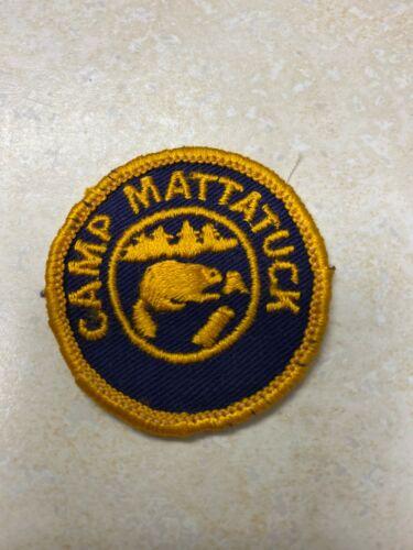 Boy Scout Camp Mattatuck Dollar Size Camp Patch