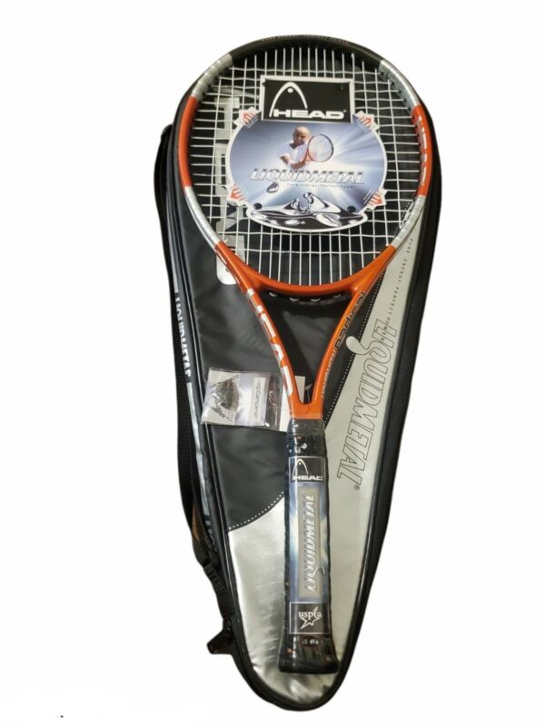 Head Liquidmetal Radical Oversize Tennis Racquet 4 5/8 Grip with Carrying Case