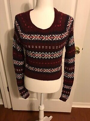 Abercrombie & Fitch Womens Size XS XSmall Sweater Red