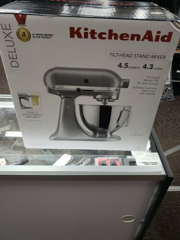 KitchenAid KSM97SL 4.5Q Deluxe Silver Tilt-Head Stand Mixer BRAND NEW FREE SHIP*