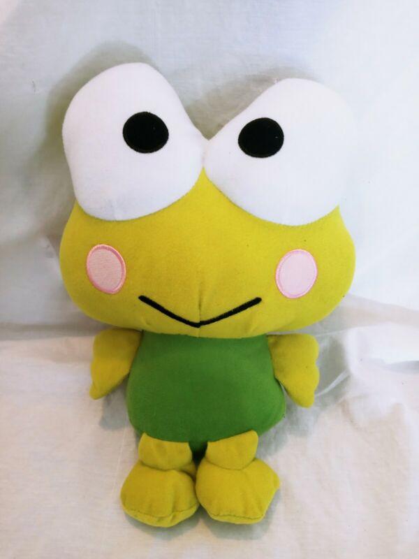"Keroppi Sanrio 14""Plush Doll Frog Hello Kitty Toy Stuffed Animal Fiesta Green"