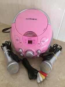 KARAOKE CD PLAYER WITH MICROPHONES South Morang Whittlesea Area Preview