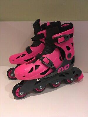 c48f7317e498 EVO Pink In-Line Skates UK Size 13J - 3 EU Size 33 - 36