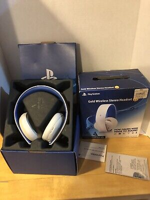 Sony PlayStation Replacement LIMITED EDITION Gold Wireless Stereo Headset PS4