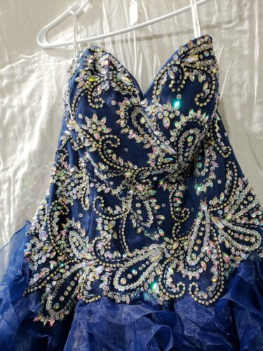 GORGEOUS NAVY GOWN ***Homecoming, Prom, Pageant or Ball Gown*** Size 16