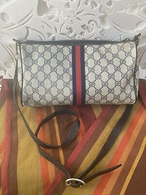 Vintage GUCCI Accessory Collection green red stripe, Leather Crossbody Bag/Cover