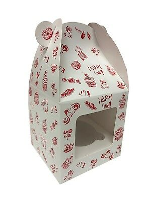 Cupcake Boxes Wholesale (Cupcake Boxes - Cupcake Boxes with Windows - Gift Box Set - 6 Pack w/1)