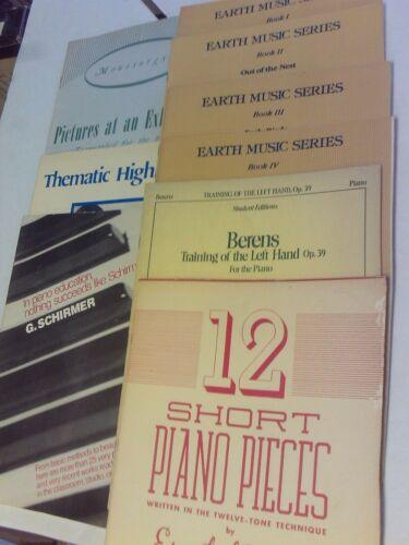 SHEET MUSIC SCHIRMER MUSIC COMPANY. 9 BOOKS