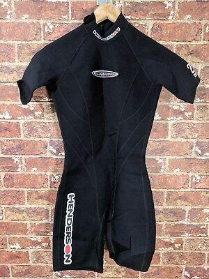 Henderson Divewear Aquatics sz 4 Wetsuit Neoprene Short Legs Black