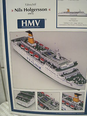 Nils Holgersson Fährschiff Schiff Kartonbausatz *NEU* Bastelbogen Kartonmodell
