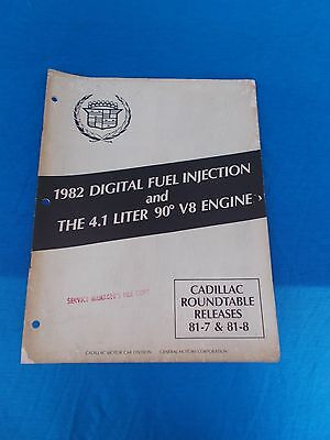 1982 Cadillac Digital Fuel Injection The 4.1 V8 Engine service booklet 20 page (Digital Fuel Injection)