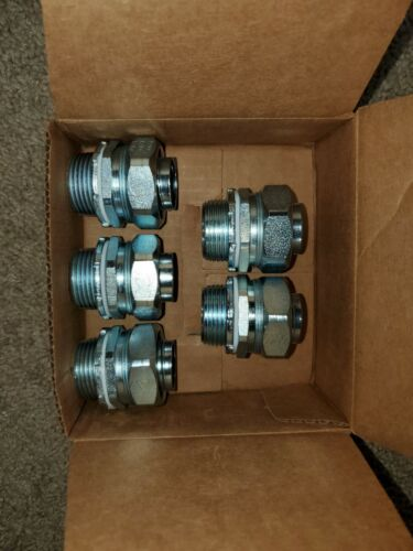 """10 each, Appleton ST-100, 1"""" Steel, ST Connectors, New in box"""