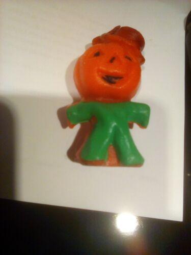 Gurley Halloween Candle Pumpkin Jack O Lantern Man Hat Green Vintage
