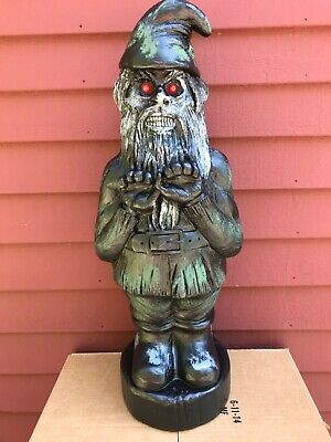 Blow Mold Scary Halloween Zombie Gnome Red Eyes Union Products