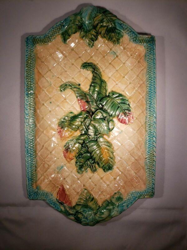 RARE Antique Majolica Platter