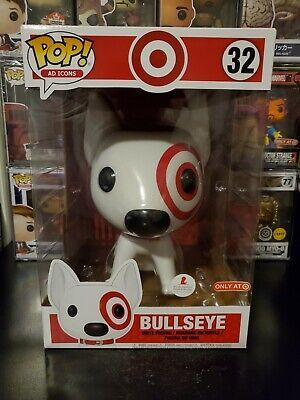 "Funko Pop! Ad Icons 10"" Inch Bullseye #32 Target Exclusive Vinyl Figure"