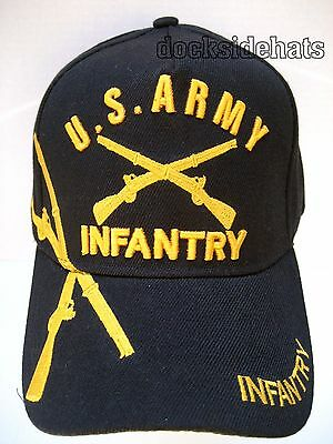 U.S.ARMY INFANTRY VETERAN Cap/Hat New Black Military Free Shipping