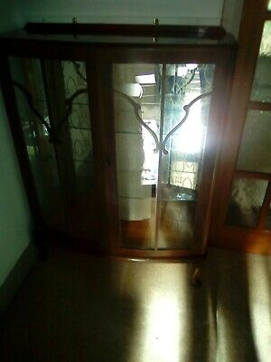 1930/40 Glass Front Cabinet