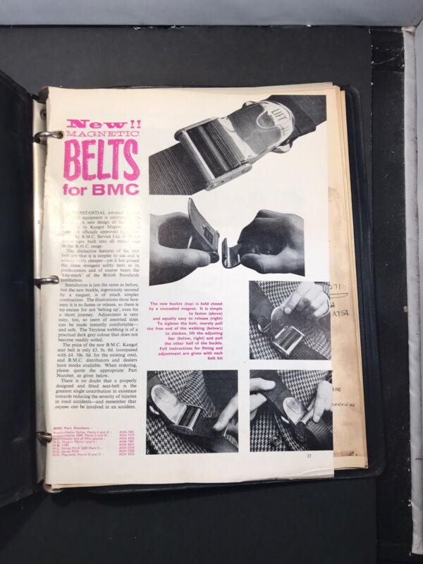 BMC Seat Belt Information And Brochures