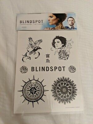 SDCC 2019 WB Booth Blindspot TV Promotional Temporary Tattoos - Tattoo Booth