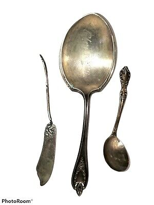 Silverplate Serving Spoon Holiday Table Meat Fork Casserole Serving Spoon Replacement Flatware International Deep Silver Buffet Server