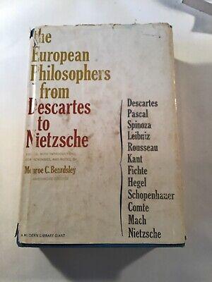 Monroe C. Beardsley THE EUROPEAN PHILOSOPHERS FROM DESCARTES TO NIETZSCHE