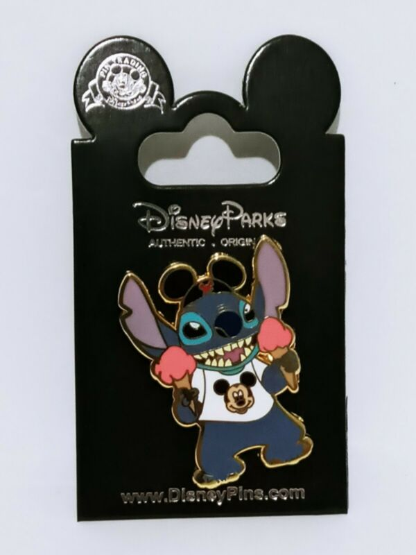 Lilo And Stitch Ice Cream Enamel Pin Mickey Ears Authentic Disney Collection