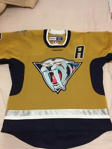 CCM Nashville Predators NHL Hockey Jersey Mustard Cat Alternate