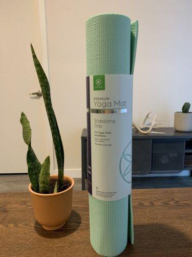 premium yoga mat stabilizing grip 6mm free