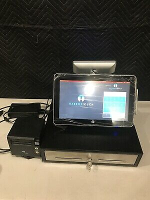 Harbor Touch Ht-sp13 Pos Touchscreen System Terminal Cash Drawer And Printer