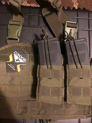 Condor Black M//L Military LE Cross Draw Tactical Chest Rig Tac Vest w// Holster