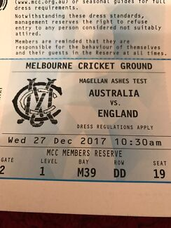 Boxing Day ashes test MCC reserve seat Day 2