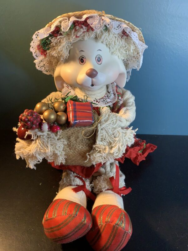 House of Lloyd Christmas around the World Flossie  Porcelain head Rabbit In box