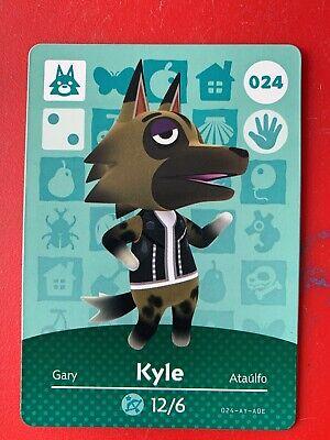 Animal Crossing Happy Home Designer Amiibo Card Kyle 024 24