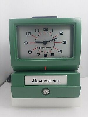 Acroprint 125nr4 Manual Print Time Recorder - Card Punchstamp