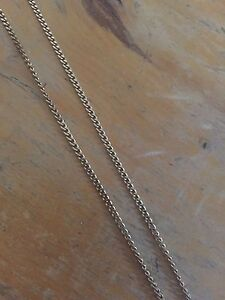 10k gold chain curb links with 10k cross