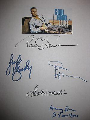 Cool Hand Luke Signed Film Script Paul Newman George Kennedy Dennis Hopper repnt