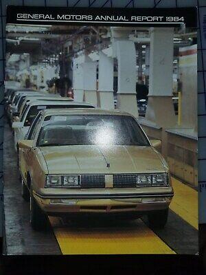 1984 GM General Motors Annual Report Brochure